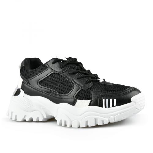 дамски маратонки черни с платформа  0142783