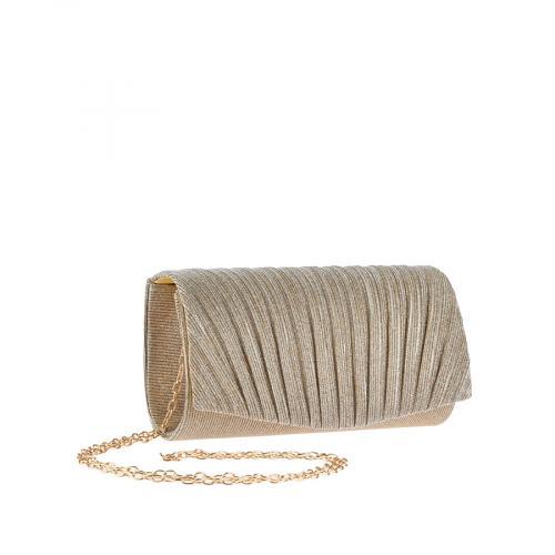 дамска елегантна чанта златиста 0143791