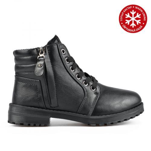 дамски ежедневни боти черни с топъл хастар 0135468