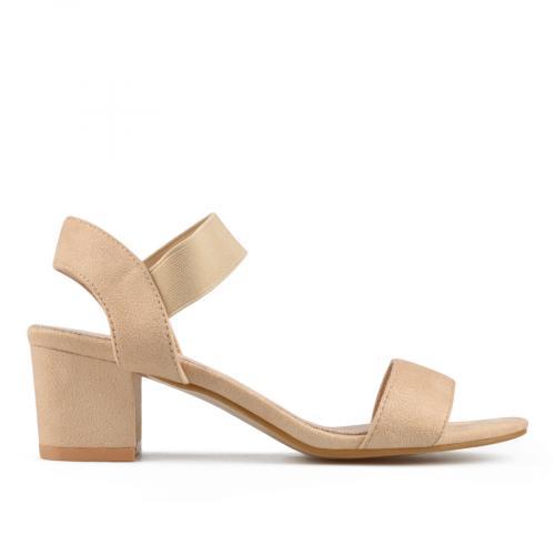 дамски елегантни сандали бежови 0138121