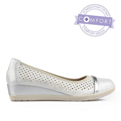 дамски ежедневни обувки сребристи 0137674