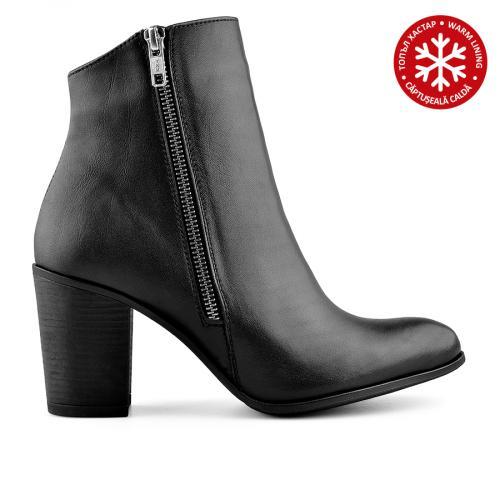 дамски елегантни боти черни с топъл хастар 0139411