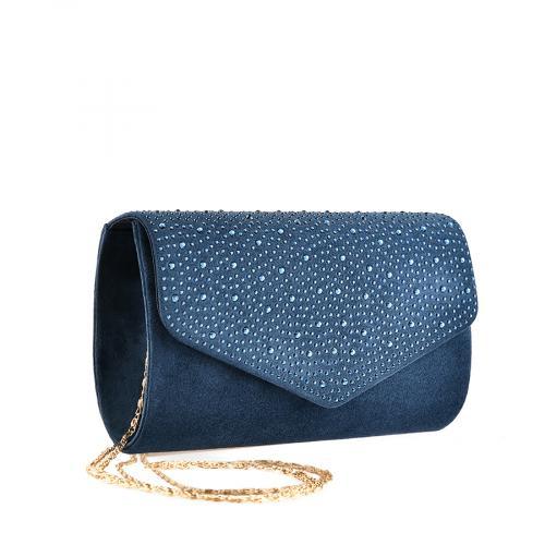 дамска елегантна чанта синя 0139863