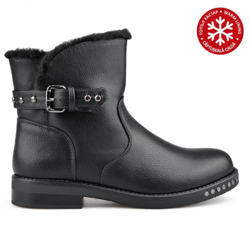 дамски ежедневни боти черни с топъл хастар 0136062