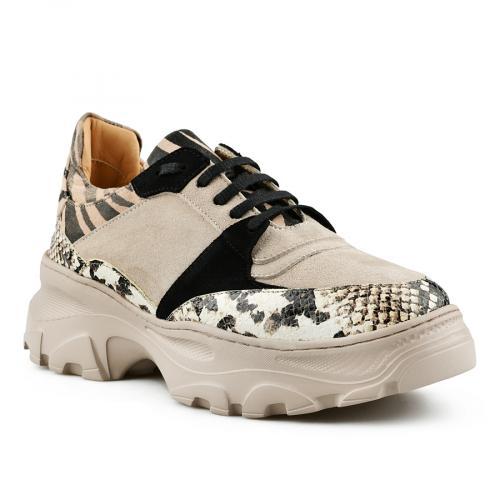дамски ежедневни обувки бежови 0141163