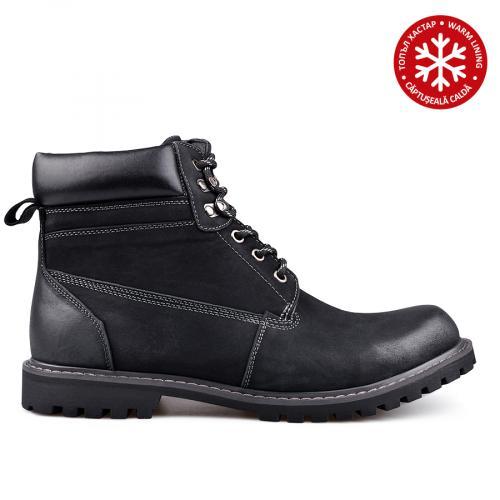 дамски ежедневни боти черни с топъл хастар 0132215