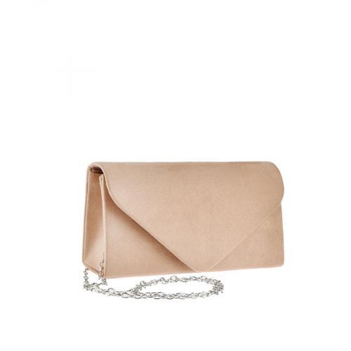 дамска елегантна чанта бежова 0143759