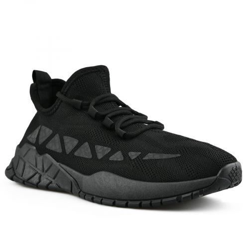 мъжки ежедневни обувки черни 0142806