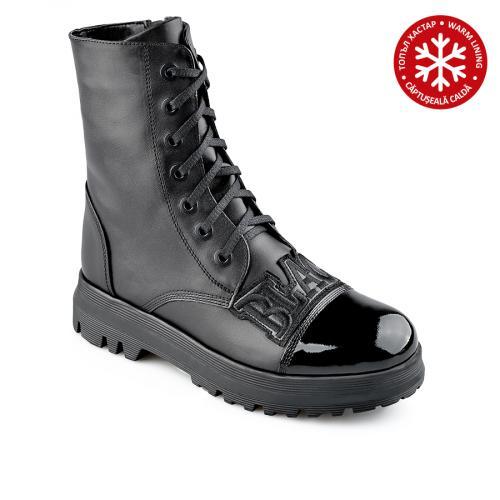 дамски ежедневни боти черни с топъл хастар 0139548