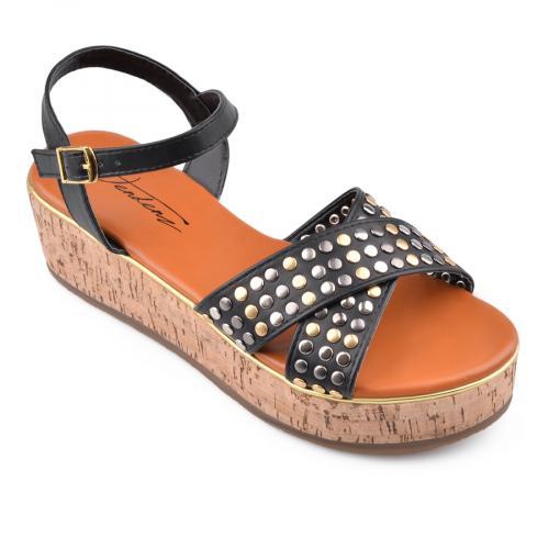 дамски ежедневни сандали черни 0134568
