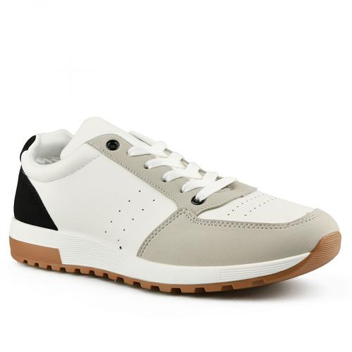 мъжки ежедневни обувки бели 0141990