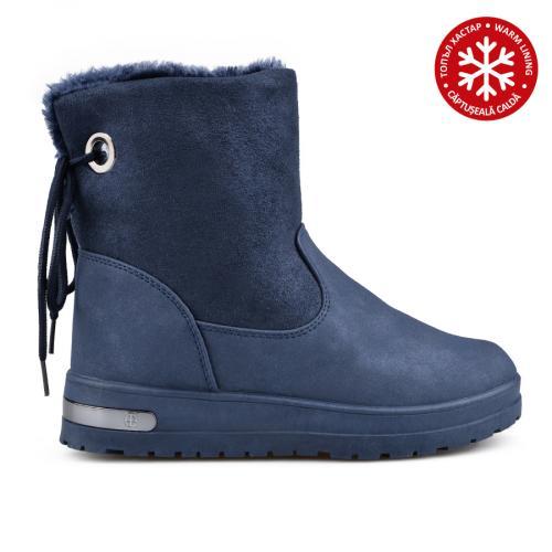 дамски ежедневни боти сини с топъл хастар 0135524