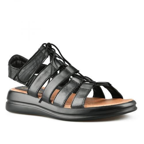 дамски ежедневни сандали черни 0144395