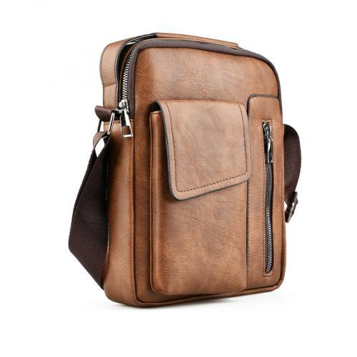 мъжка ежедневна чанта кафява 0141596
