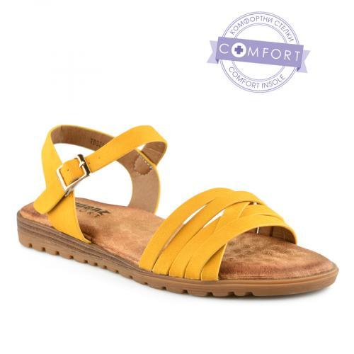 дамски ежедневни сандали жълти 0142862