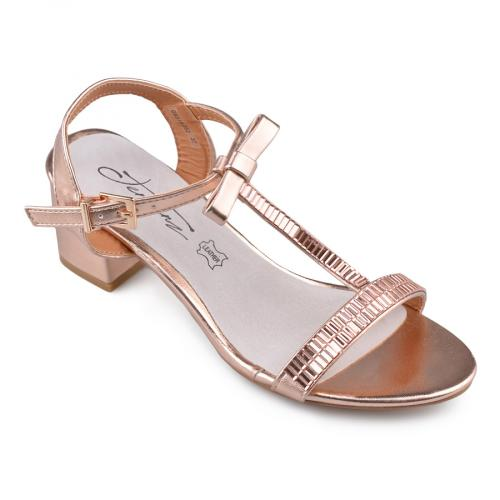 дамски елегантни сандали златисти 0134537