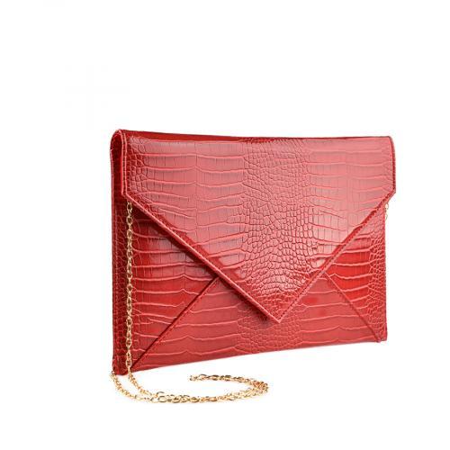 дамска елегантна чанта червена  0139885