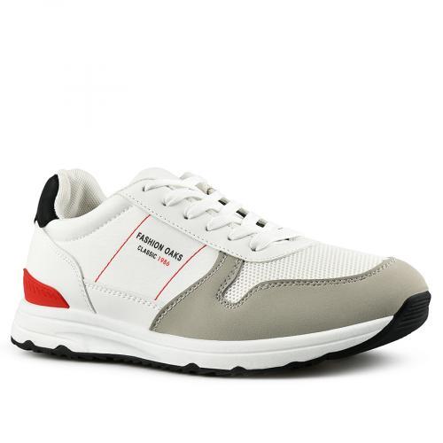 мъжки ежедневни обувки бели 0142627