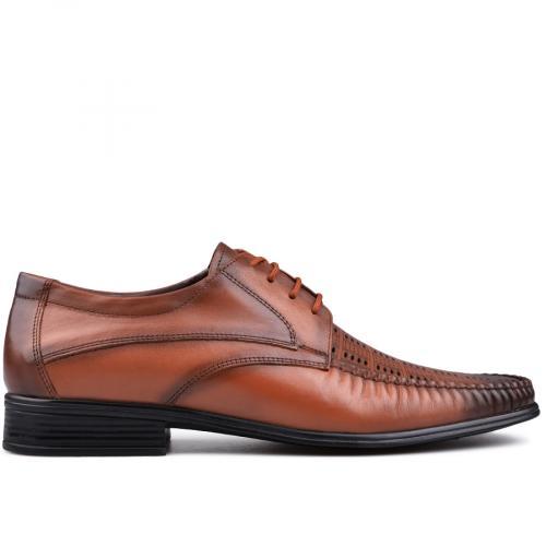 мъжки елегантни обувки кафяви 0131217