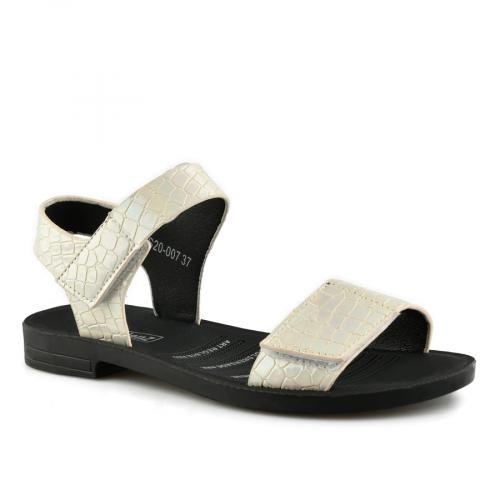 дамски ежедневни сандали бели 0140564