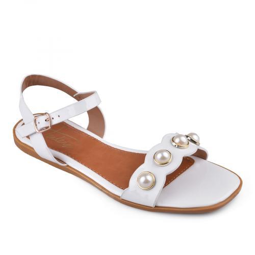 дамски ежедневни сандали бели 0134141