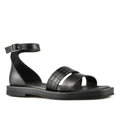 дамски ежедневни сандали черни 0144419