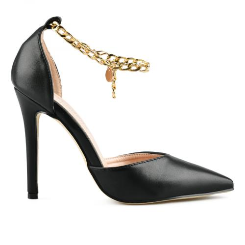 дамски елегантни сандали черни 0143236
