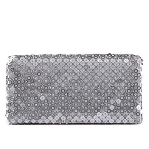 дамска елегантна чанта сребриста 0129288