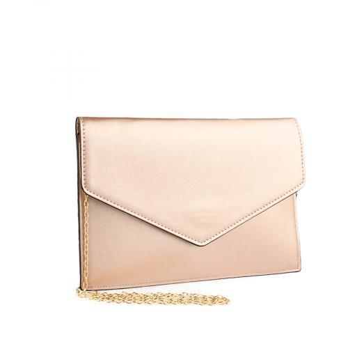 дамска елегантна чанта златиста 0139882