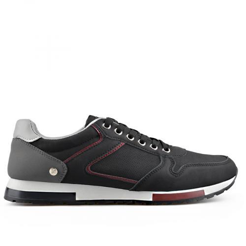 мъжки ежедневни обувки черни 0136909