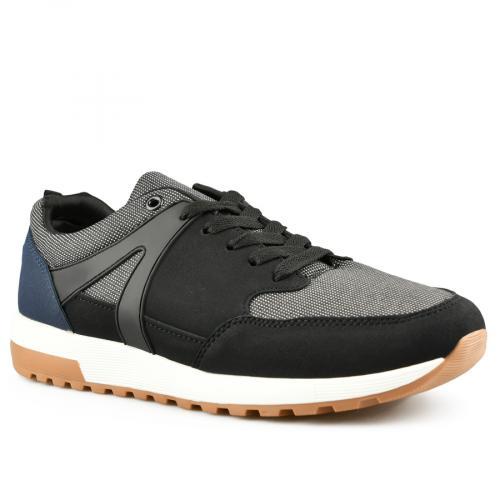 мъжки ежедневни обувки черни 0141987