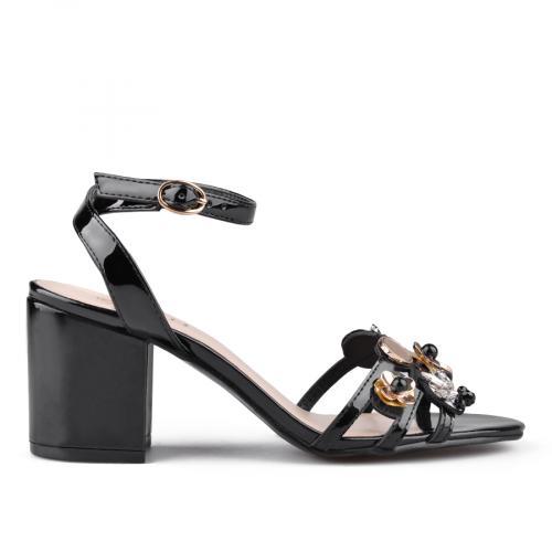 дамски елегантни сандали черни 0135859
