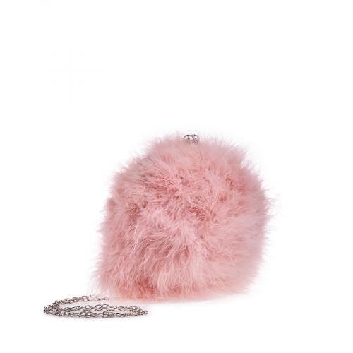 дамска елегантна чанта розова 0134405