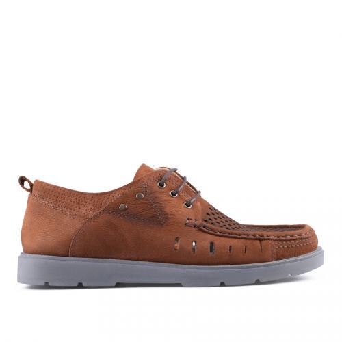 мъжки ежедневни обувки кафяви 0127526