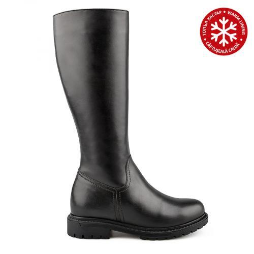 дамски ежедневни ботуши черни с топъл хастар 0138426