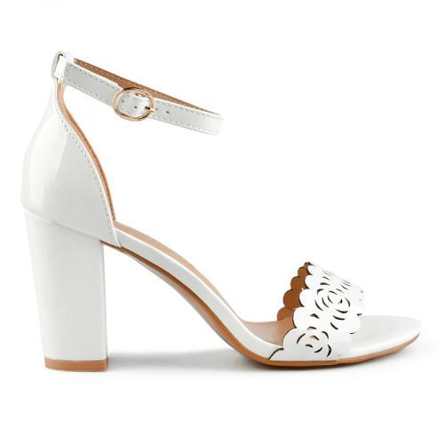 дамски елегантни сандали бели 0143259