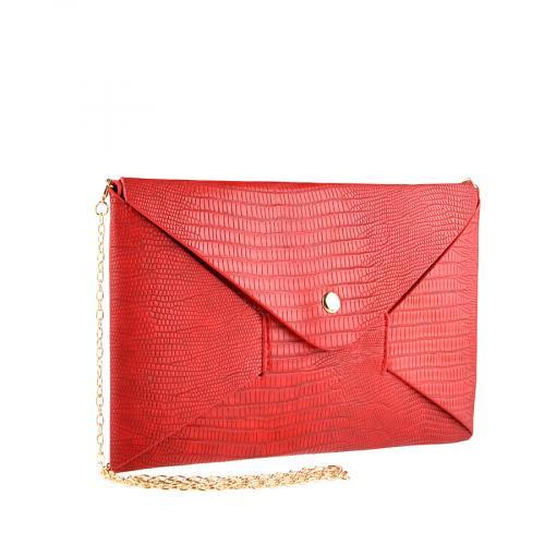 дамска елегантна чанта червена 0140908