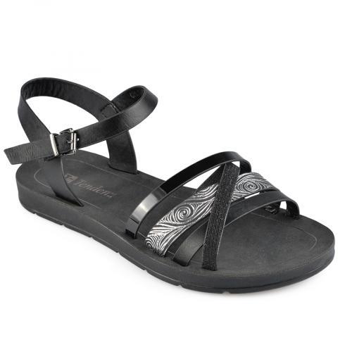 дамски ежедневни сандали черни 0137590