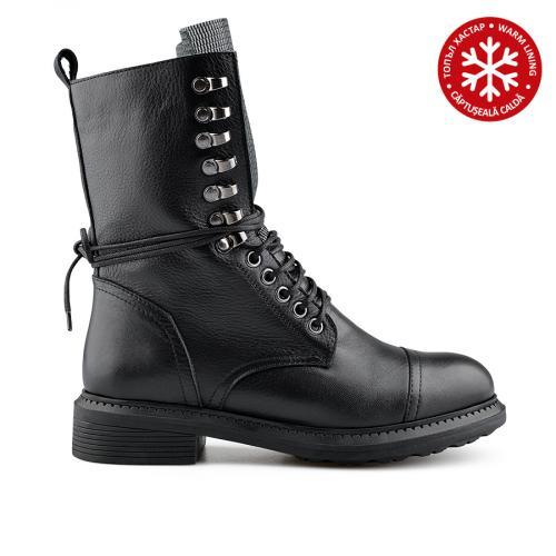 дамски ежедневни боти черни с топъл хастар 0139436