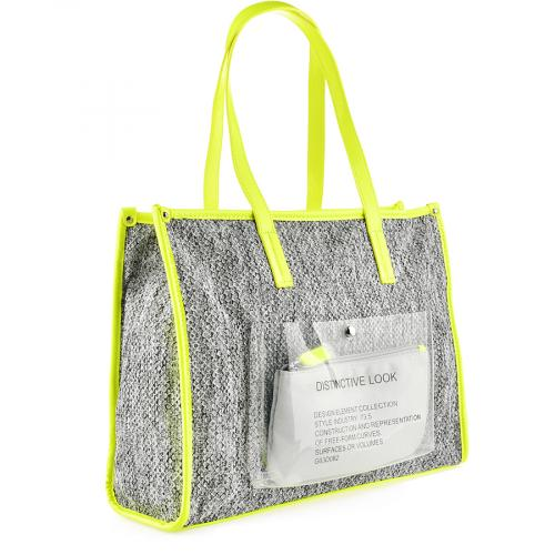 дамска ежедневна чанта сива 0140190