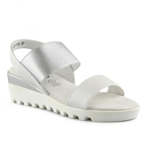 дамски ежедневни сандали бели 0139755