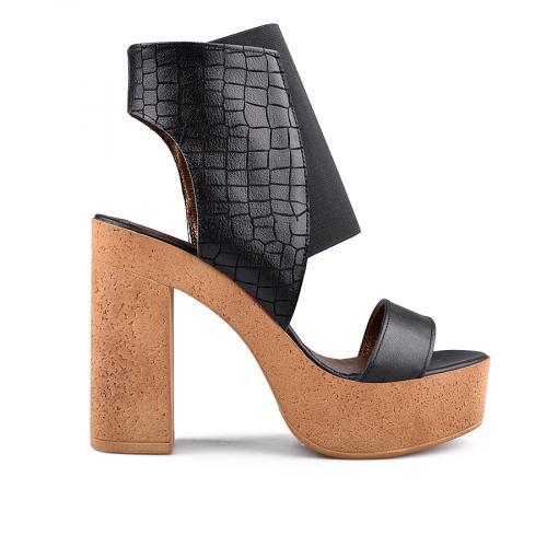 дамски елегантни сандали черни 0134720