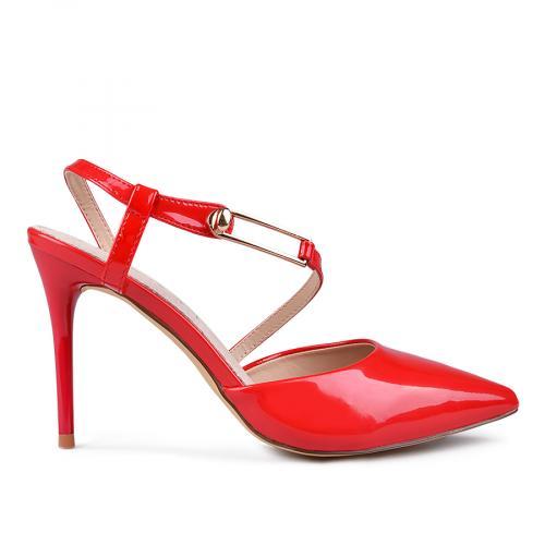 дамски елегантни сандали червени 0133674