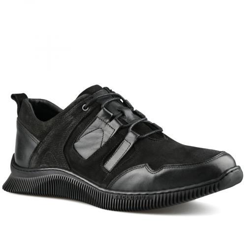 мъжки ежедневни обувки черни 0142213