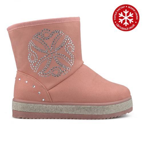 дамски ежедневни боти розови с топъл хастар 0135523