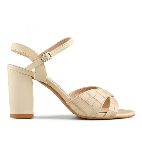 дамски елегантни сандали бежови 0140698