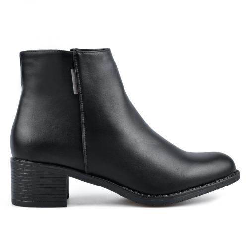 дамски елегантни боти черни 0135581