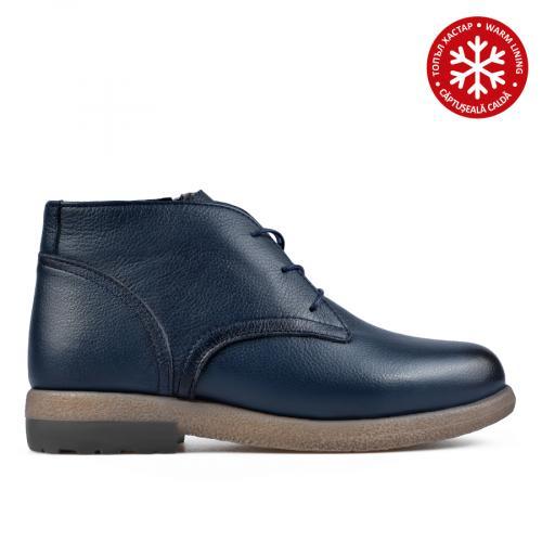 дамски ежедневни боти сини с топъл хастар 0139577