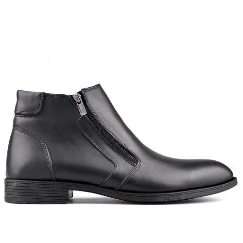 мъжки елегантни боти с топъл хастар черни 0130105
