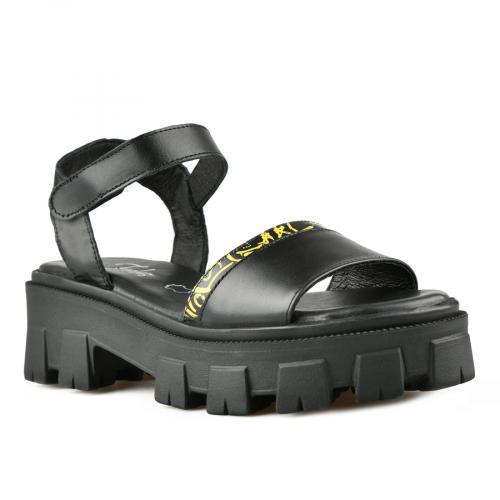 дамски ежедневни сандали черни 0141285